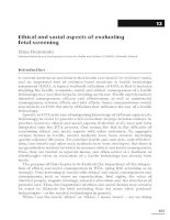 Ethical and social aspects of evaluating fetal screening