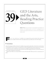 GED Literature and the Arts, Reading Practice Questions