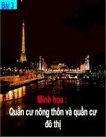 Bài giảng Minh hoa Bai 3 - Quan cu nong thon va quan cu do thi.
