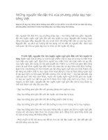 Bài giảng Những nguyên tắc đặc thù của phương pháp dạy học tiếng Việt