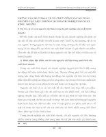 NHỮNG VẤN ĐỀ CƠ BẢN VỀ TỔ CHỨC CÔNG TÁC KẾ TOÁN NGUYÊN VẬT LIỆU TRONG CÁC DOANH NGHIỆP SẢN XUẤT KINH   DOANH