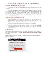 Huong dan to chuc thi Olympic tiếng Anh cấp trường NH 10 - 11