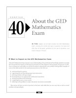 About the GED Mathematics Exam