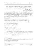 Cơ sở phương pháp đường chéo và các bài toán mở rộng