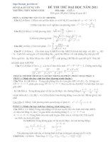 Bài soạn Đề&đáp án thi thử Toán 2011 (đề 29)