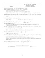Đề thi Học kì 1 Toán 12 - Đề số 4