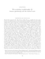 The revolution in philosophy (I) - human spontaneity and the natural order