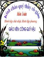 Bài giảng hinh hop chu nhat hinh lap phuong