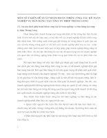 MỘT SỐ Ý KIẾN ĐỀ XUẤT NHẰM HOÀN THIỆN CÔNG TÁC KẾ TOÁN NGHIỆP VỤ BÁN HÀNG TẠI CÔNG TY THÉP THĂNG LONG