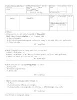 đề thi HKI khối 4