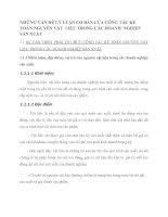 NHỮNG VẤN ĐỀ LÝ LUẬN CƠ BẢN CỦA CÔNG TÁC KẾ TOÁN NGUYÊN VẬT  LIỆU TRONG CÁC DOANH  NGHIỆP SẢN XUẤT