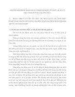 MỘT SỐ GIẢI PHÁP NHẰM HOÀN THIỆN BỘ MÁY TỔ CHỨC QUẢN LÝ TẠI CÔNG TY VẬN TẢI Ô TÔ SỐ 3