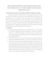 MỘT SỐ GIẢI PHÁP HẠN CHẾ RỦI RO TÍN DỤNG TẠI NGÂN HÀNG ĐẦU TƯ VÀ PHÁT TRIỂN VIỆT NAM CHI NHÁNH CẦU GIẤY