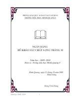 Bài giảng toan 5 khao sat