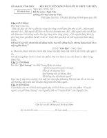 Bài giảng Đề thi và đáp án thi vào lớp 10 chuyen văn tỉnh Vĩnh Phúc năm học 2010-2011