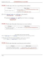 Bài soạn conditional clause full + exercises