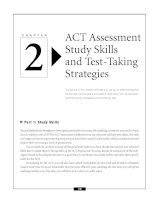 ACT Assessment Study Skills and Test-Taking Strategies