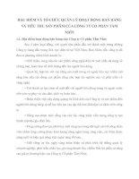 ĐẶC ĐIỂM VÀ TỔ CHỨC QUẢN LÝ HOẠT ĐỘNG BÁN HÀNG VÀ TIÊU THỤ SẢN PHẨM CỦA CÔNG TY CỔ PHẦN TẦM NHÌN