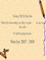 Chuong III  Bai 3 Giai he phuong trinh bang phuong phap the