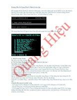 Bài soạn Huong  dan su dung hiren boot cd