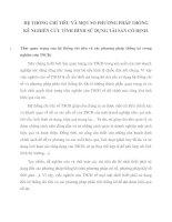 HỆ THỐNG CHỈ TIÊU VÀ MỘT SỐ PHƯƠNG PHÁP THỐNG KÊ NGHIÊN CỨU TÌNH HÌNH SỬ DỤNG TÀI SẢN CỐ ĐỊNH