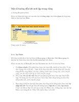 Bài soạn Một số hướng dẫn khi mới lập trang riêng