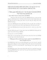MỘT SỐ GIẢI PHÁP ĐỐI VỚI CÔNG TÁC QUẢN LÍ TÀI CHÍNH BHXH VIỆT NAM TRONG THỜI KÌ TỚI