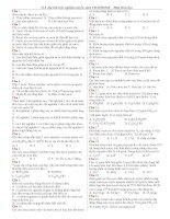 Tài liệu 518 Câu hỏi trắc nghiệm tuyển sinh cao đẳng đại học môn hóa
