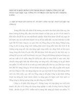 MỘT SỐ Ý KIẾN ĐÓNG GÓP NHẰM HOÀN THIỆN CÔNGTÁC KẾ TOÁN VẬT LIỆU TẠI  CÔNG TY CỔ PHẦN XÂY DỰNG SỐ 2 THĂNG LONG