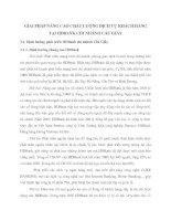 GIẢI PHÁP NÂNG CAO CHẤT LƯỢNG DỊCH VỤ KHÁCH HÀNG TẠI HDBANK CHI NHÁNH CẦU GIẤY