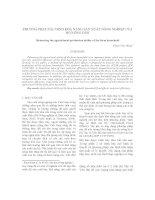 Phương pháp xác định khả năng sản xuất của hộ Nông dân