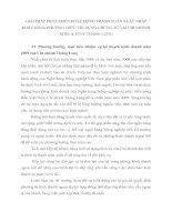 GIẢI PHÁP PHÁT TRIỂN HOẠT ĐỘNG THANH TOÁN XUẤT NHẬP KHẨU BẰNG PHƯƠNG THỨC TÍN DỤNG CHỨNG TỪ TẠI CHI NHÁNH NHNo & PTNT THĂNG LONG