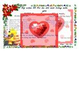 Bưu thiếp Lễ tri ân trưởng thành tặng các HS yêu quý