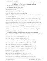 Bài soạn Chuyen de Phuong trinh duong thang