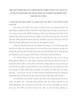 MỘT SỐ Ý KIẾN ĐỀ XUẤT NHẰM HOÀN THIỆN CÔNG TÁC QUẢN LÝ SỬ DỤNG KINH PHÍ CHO HOẠT ĐỘNG SỰ NGHIỆP TẠI BỆNH VIỆN NHI TRUNG ƯƠNG