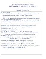 Tài liệu Tai lieu on thi mon Hoa Hoc 12-2011