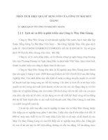 PHÂN TÍCH  HIỆU QUẢ SỬ DỤNG VỐN CỦA CÔNG TY MAY ĐỨC GIANG
