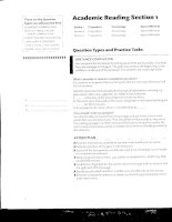Action Plan for IELTS - Academic reading section