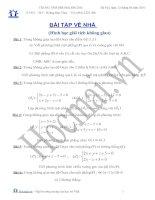 (Luyện thi cấp tốc Toán) Chuyên đề hình học giải tích_Bài tập và hướng dẫn giải