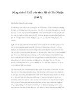 Dùng chỉ số Z để ước tính Hệ số Tín Nhiệm (bài 2)