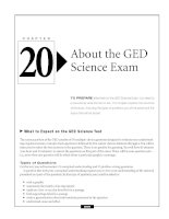 About the GED Science Exam