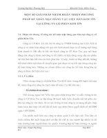 MỘT SỐ GIẢI PHÁP NHẰM HOÀN THIỆN PHƯƠNG PHÁP KẾ TOÁN MẶT HÀNG VẬT LIỆU HÀN KIM TÍN TẠI CÔNG TY CỔ PHẦN KIM TÍN