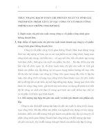 THỰC TRẠNG HẠCH TOÁN CHI PHÍ SẢN XUẤT VÀ TÍNH GIÁ THÀNH SẢN PHẨM XÂY LẮP TẠI  CỒNG TY CỔ PHẦN CÔNG TRÌNH GIAO THÔNG THANH HOÁ