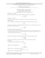 Tuyển tập các bài tập vật lý 11