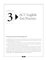 ACT English Test Practice