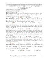Tổng hợp đề ôn thi đại học Vật lý 2014