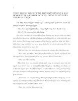 THỰC TRẠNG TỔ CHỨC KẾ TOÁN BÁN HÀNG VÀ XÁC ĐỊNH KẾT QUẢ KINH DOANH TẠI CÔNG TY CỔ PHẦN TRUNG NGUYÊN