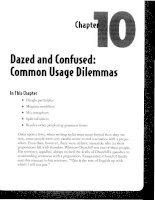 Dazed and Confused - Common Usage Dilemmas