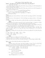 Các dạng toán hay lớp 4+5