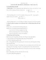 Bài soạn Chuyen de He Phuong Trinh